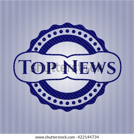 Top News emblem with jean texture
