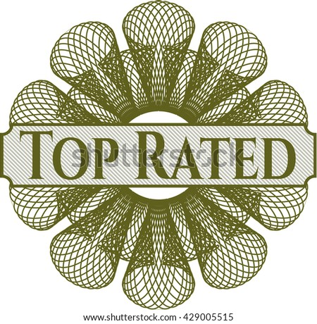 Top Rated rosette (money style emplem)
