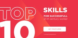 Top 10 rating banner design template. Modern Vector layout