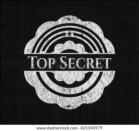Top Secret chalkboard emblem