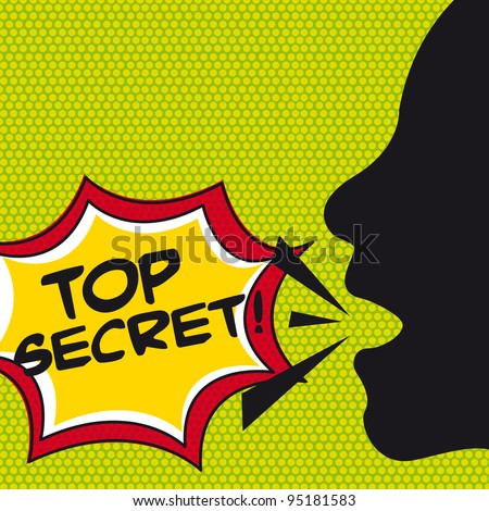 top secret comic explosion, pop art. vector illustration - stock vector