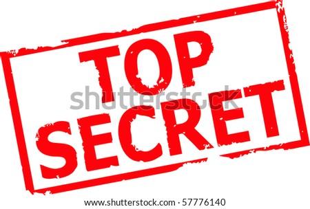 top secret grunge rubber stamp vector illustration - stock vector