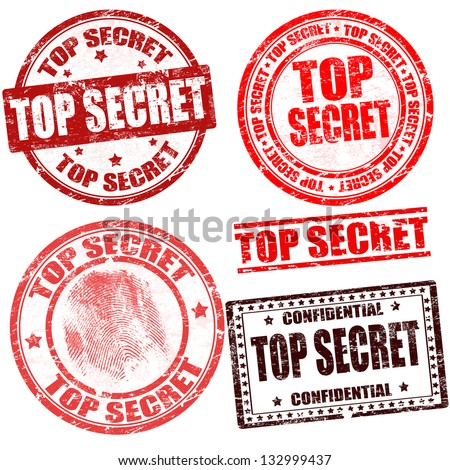 Top secret grunge stamp collection on white background, vector illustration Stock photo ©