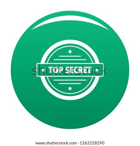 Top secret logo. Simple illustration of top secret vector logo for any design green