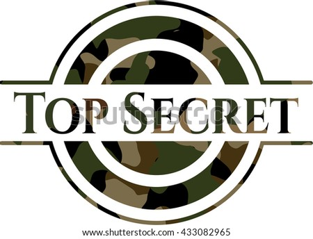 Top Secret on camouflaged pattern