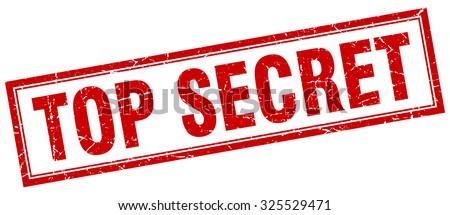 top secret red square grunge stamp on white. top secret stamp. top secret. top secret sign Stock photo ©