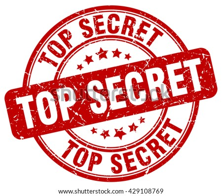 top secret. stamp. red round grunge isolated vintage top secret sign Stock photo ©