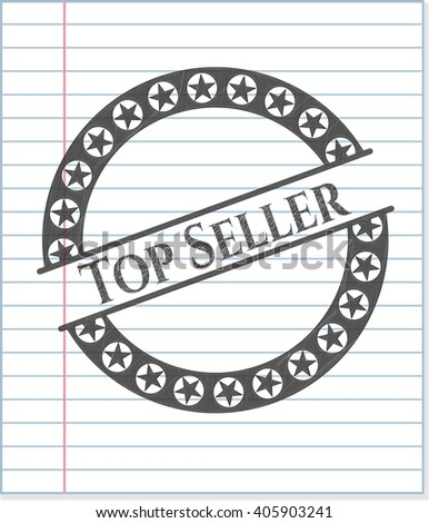 Top Seller emblem drawn in pencil