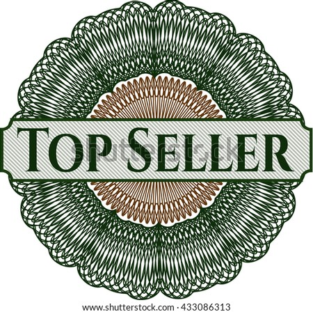 Top Seller inside a money style rosette