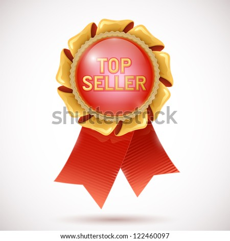 top seller medal icon - stock vector