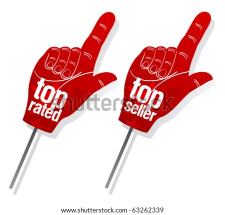 Top seller pointer signs set