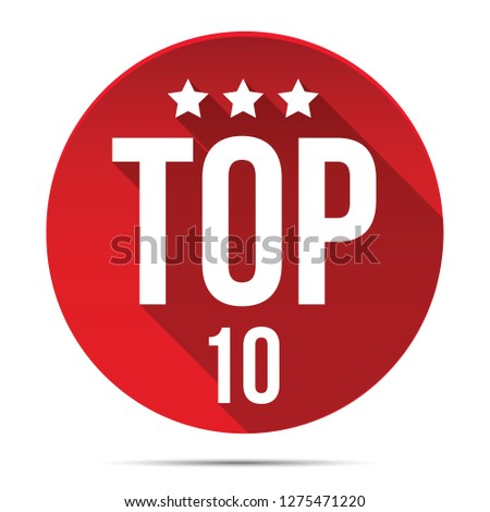 Top Ten red label button