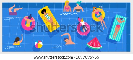 top view beach background  pool