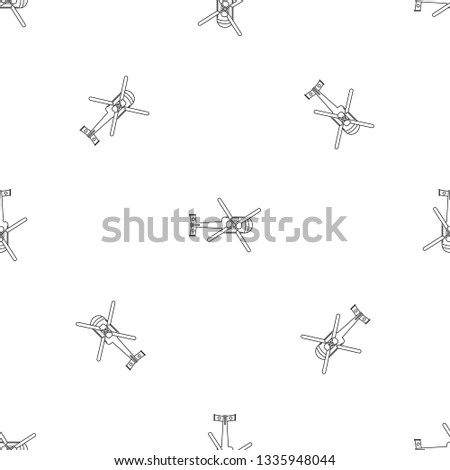 top view helicopter pattern