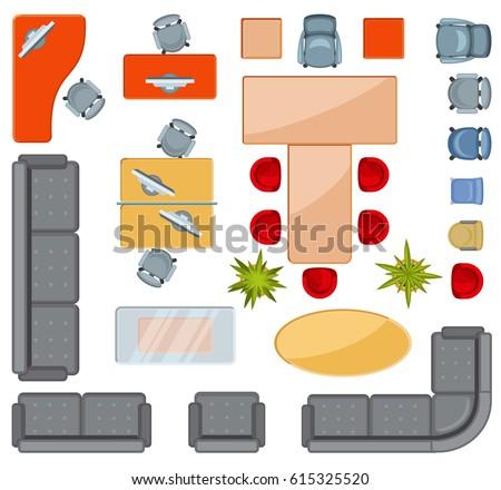 Furniture Floor Plan free floorplan furniture vector - download free vector art, stock