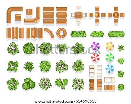 Trees Top View For Landscape Download Free Vector Art Stock
