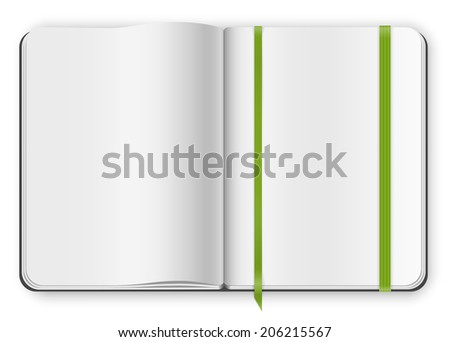 Top View Multipaged Blank Opened Copybook Moleskine Template With
