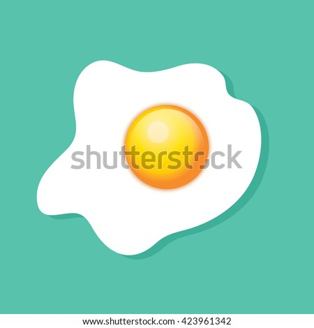 top view of a fried egg  sunny