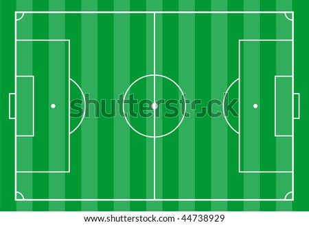 Top view of a soccer field.