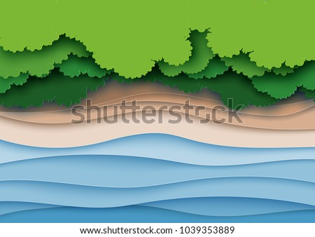 top view of green forest canopy