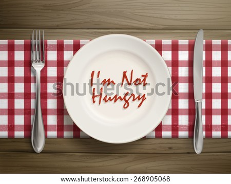 top view of i am not hungry