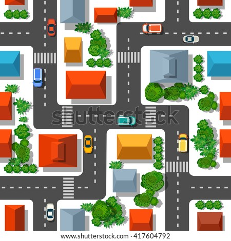 Royalty Free Top View Of The City 405632212 Stock Photo