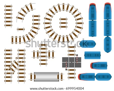 top view railway tracks and