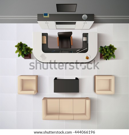 top view realistic reception
