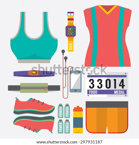 top view runner gears vector