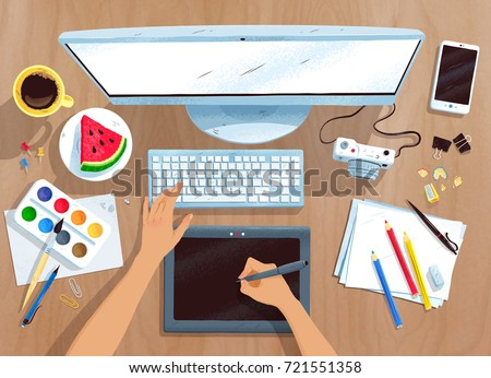 top view vector illustration of