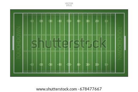 top views of american football