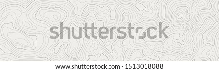 topographic line contour map background, geographic grid map, stock vector illustration