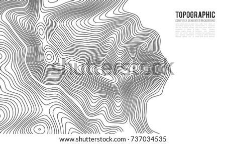 Topographic map contour background. Topo map with elevation. Contour map vector. Geographic World Topography map grid abstract vector illustration . #737034535
