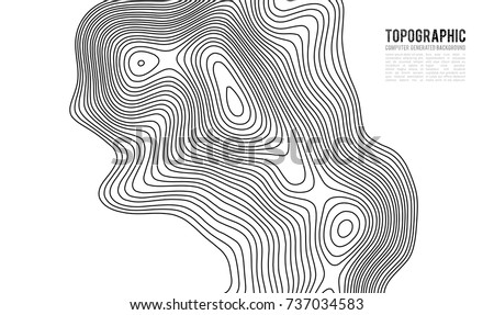 Topographic map contour background. Topo map with elevation. Contour map vector. Geographic World Topography map grid abstract vector illustration . #737034583