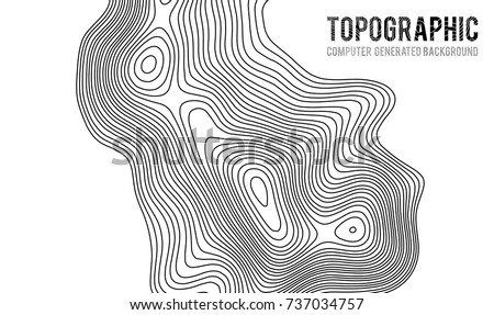 Topographic map contour background. Topo map with elevation. Contour map vector. Geographic World Topography map grid abstract vector illustration . #737034757