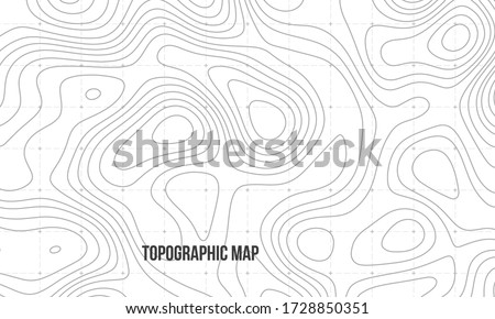 Topographic map. Geographic contour map background. Vector illustration. Foto stock ©