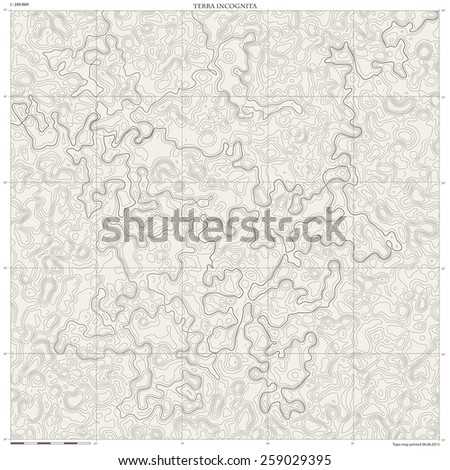 topographic map monochrome