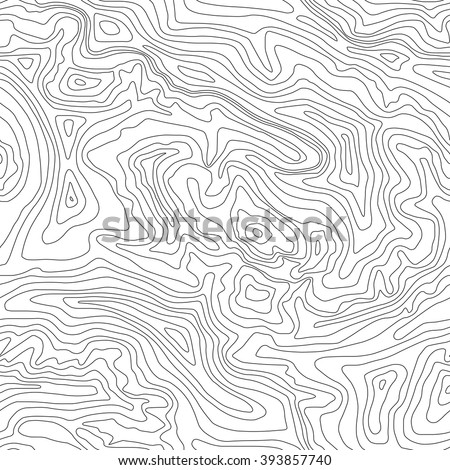 Topographic map, seamless pattern, line design, vector illustration