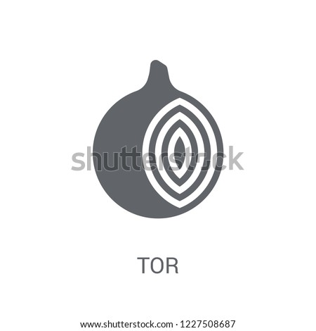 Tor icon. Trendy Tor logo concept on white background from Cryptocurrency economy and finance collection. Suitable for use on web apps, mobile apps and print media.