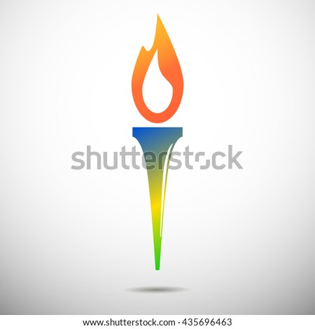 torch vector icon isolated on