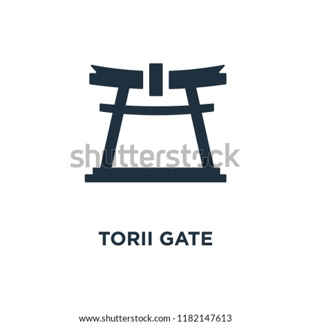 torii gate icon black filled