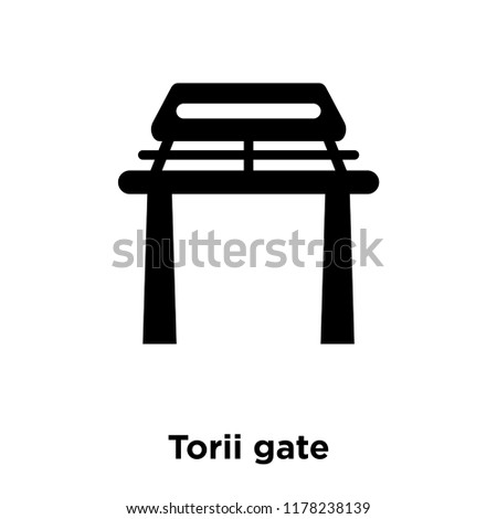 torii gate icon vector isolated