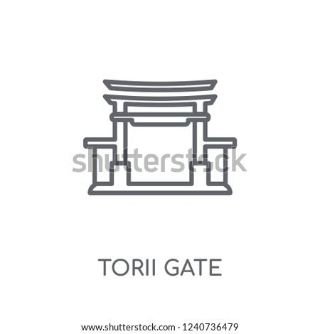 torii gate linear icon modern