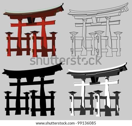 torii gate  miyajima  japan