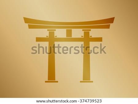 torii symbol  gold texture