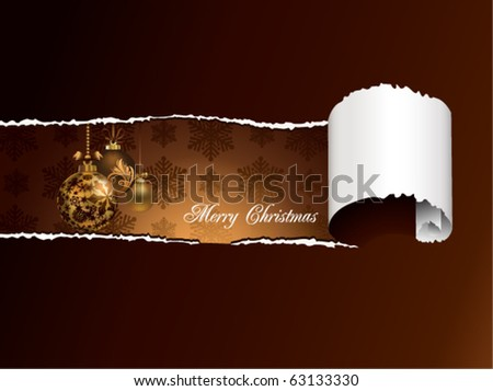 Torn Paper Christmas Background