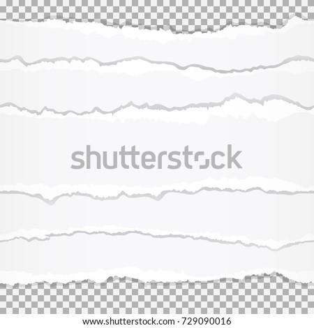 Torn paper edges.