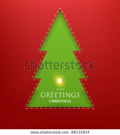 Torn paper in the shape of Christmas Snowflake. Vector Illustration.