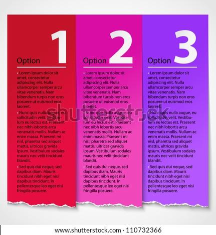 Torn paper progress option label background