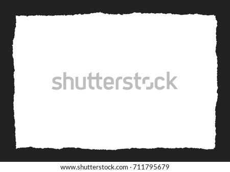 torn paper square vector on a black background
